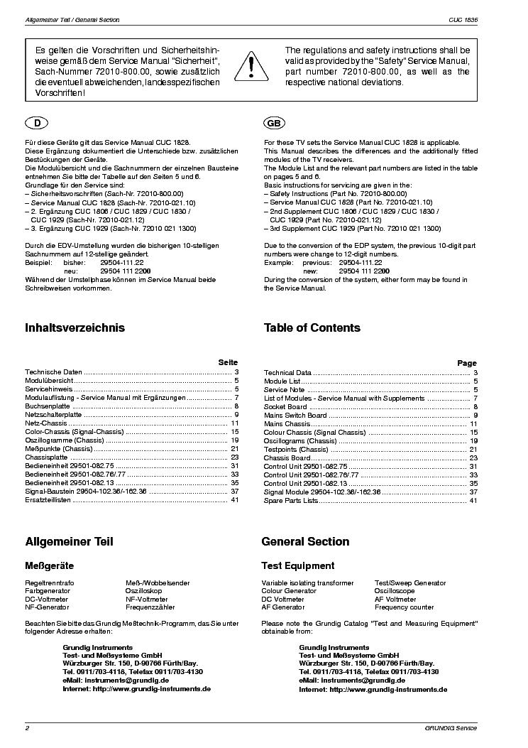 Grundig Cuc1836 Service Manual Download  Schematics