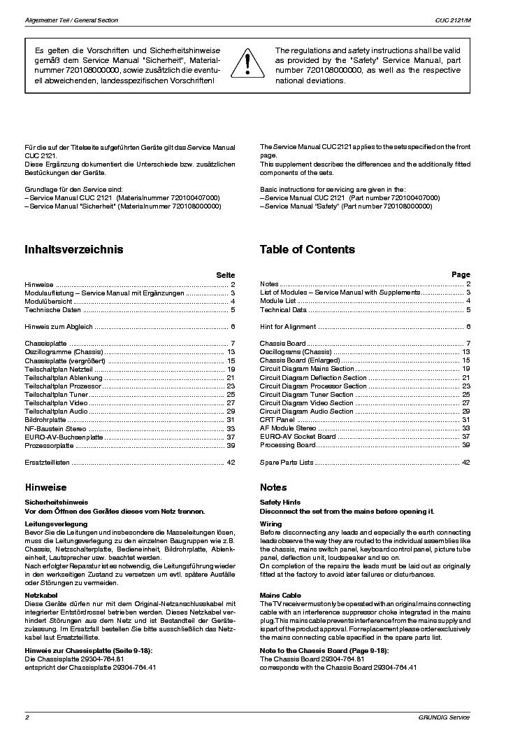 Grundig Cuc2121 M55 9201 Service Manual Download  Schematics  Eeprom  Repair Info For