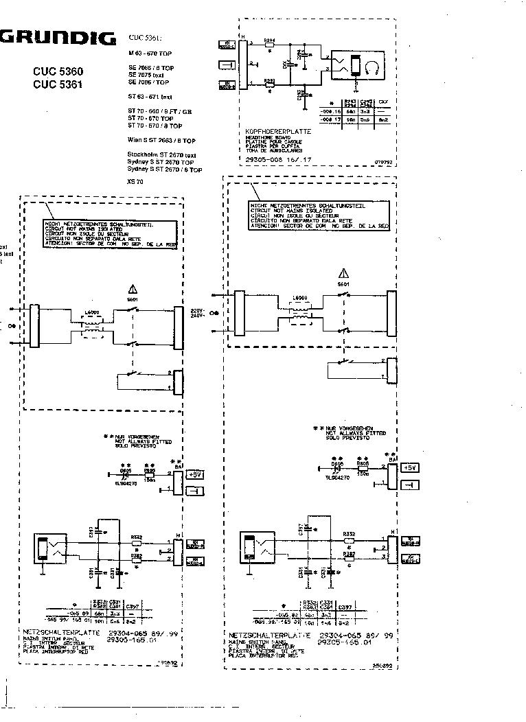 Grundig Cuc 5360 5361 Sch Service Manual Download  Schematics  Eeprom  Repair Info For