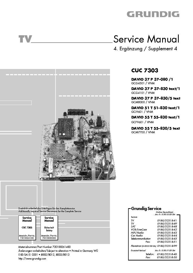 Grundig Cuc 7303 Service Manual Download  Schematics