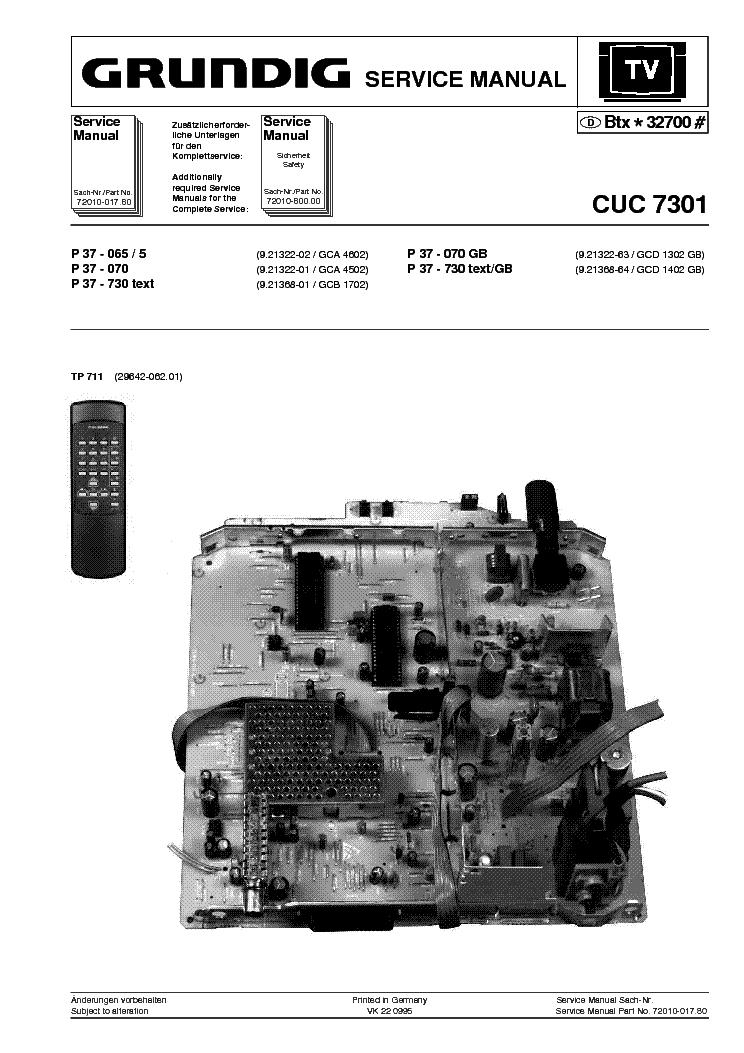 GRUNDIG P37 065 CUC 7301