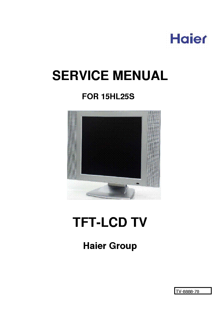 HAIER 15HL25S SM service manual (1st page)