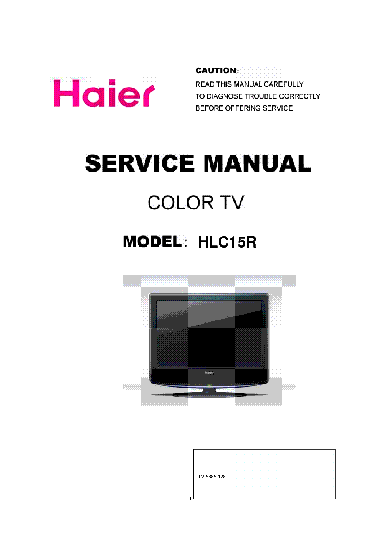 HAIER HLC15R service manual (1st page)