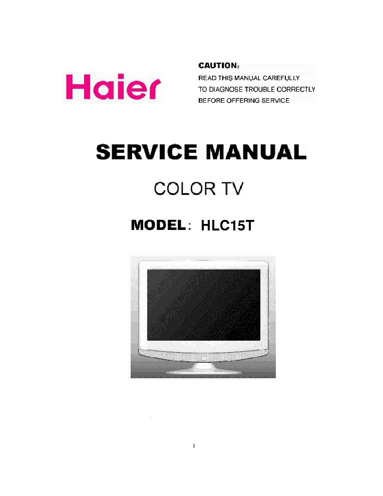 HAIER HLC15T service manual (1st page)