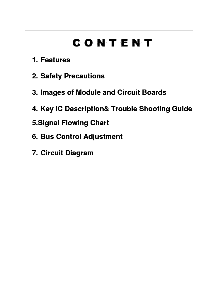 HAIER HLC19E service manual (2nd page)