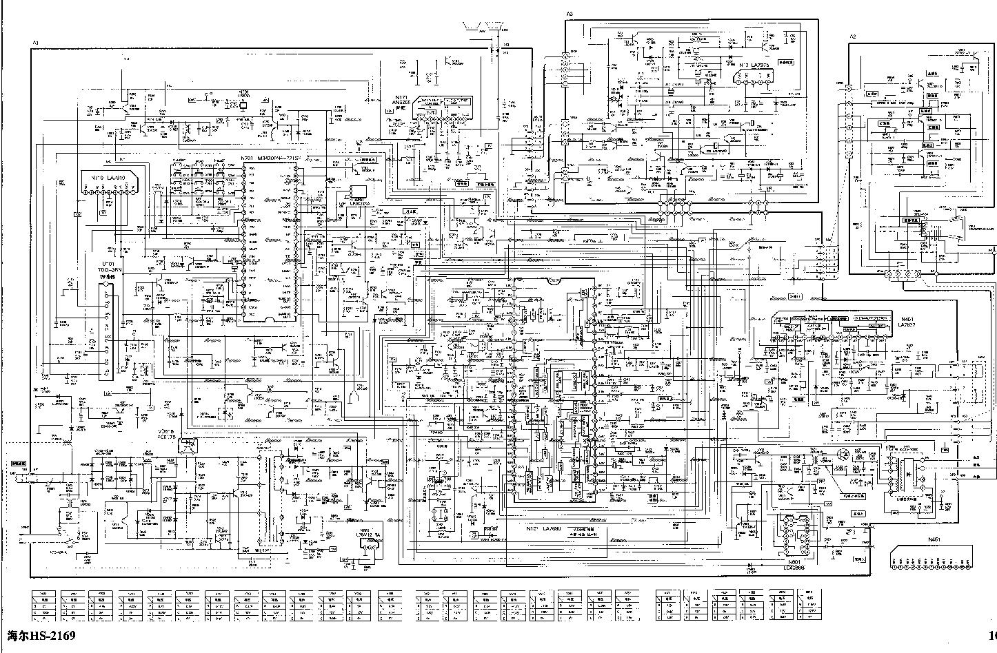 HAIER HS2169 - M34300N4-721SP , LA7680 , LA7837 , AN5265 - TV D SCH