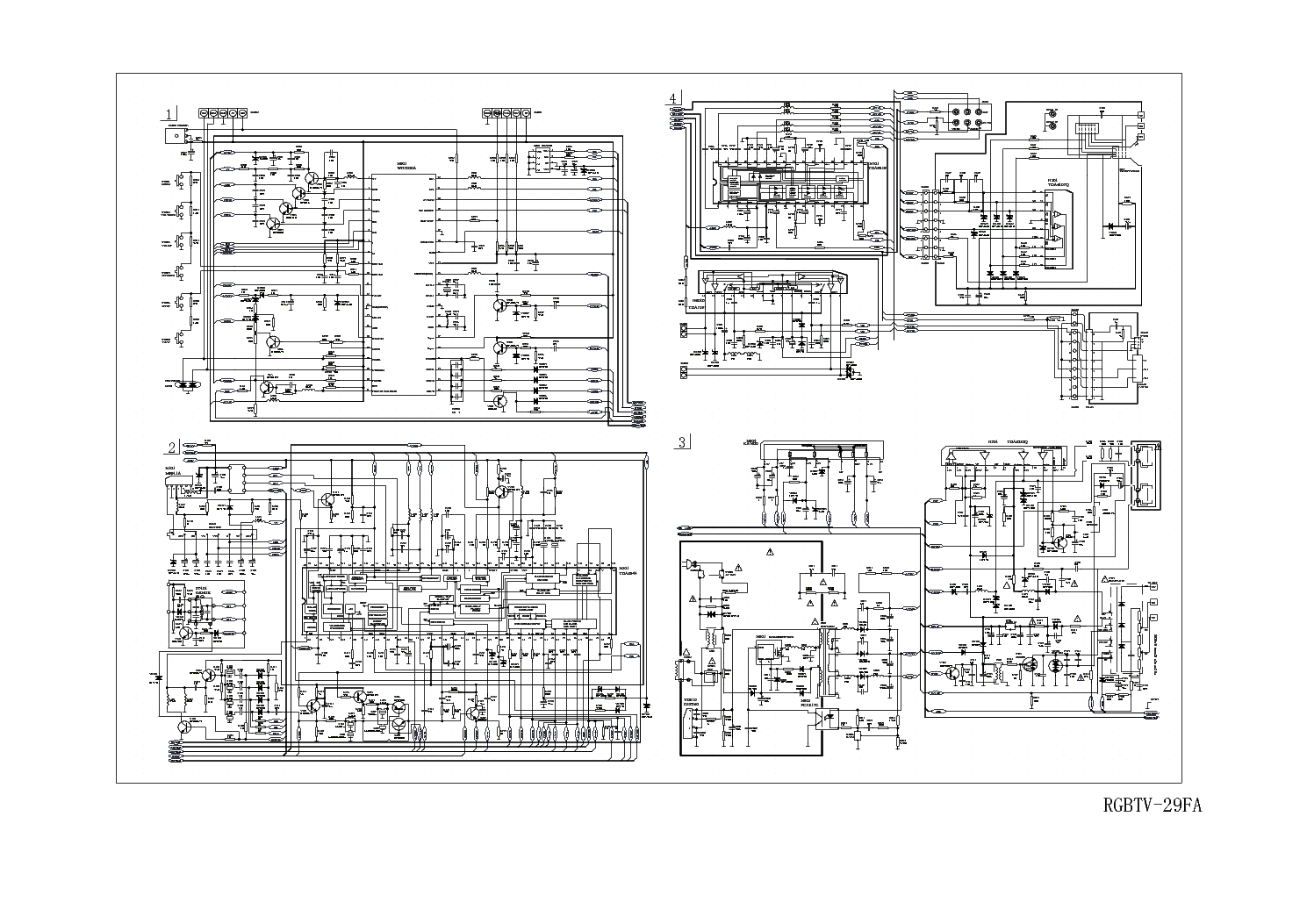 HAIER TV-29FA CIRCUIT DIAGRAM service manual (1st page)