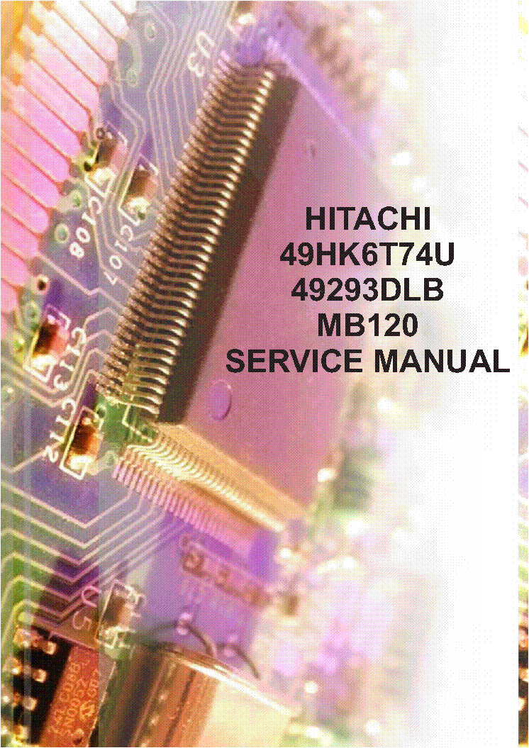 hitachi 60ex38b service manual