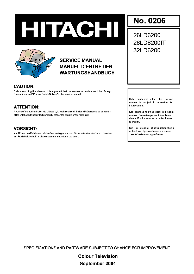 hitachi chassis 17mb11 26ld6200 32ld6200 service manual download rh elektrotanya com Verizon LG User Manual Hitachi Excavator Repair Manual