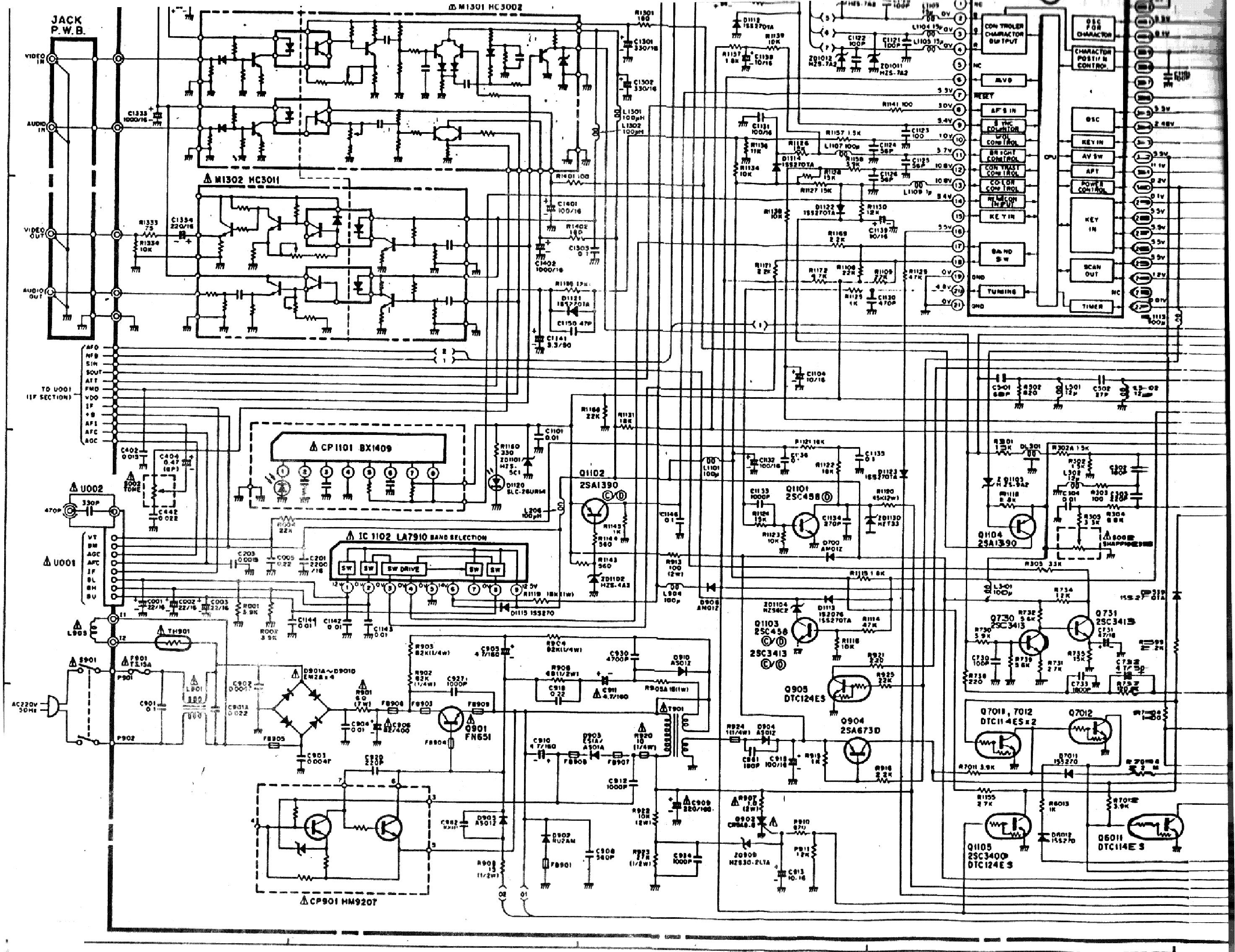 Brilliant Hitachi Cl2146Tan Cl2516Tan Cl2846Tan Sch Service Manual Download Wiring Digital Resources Funapmognl