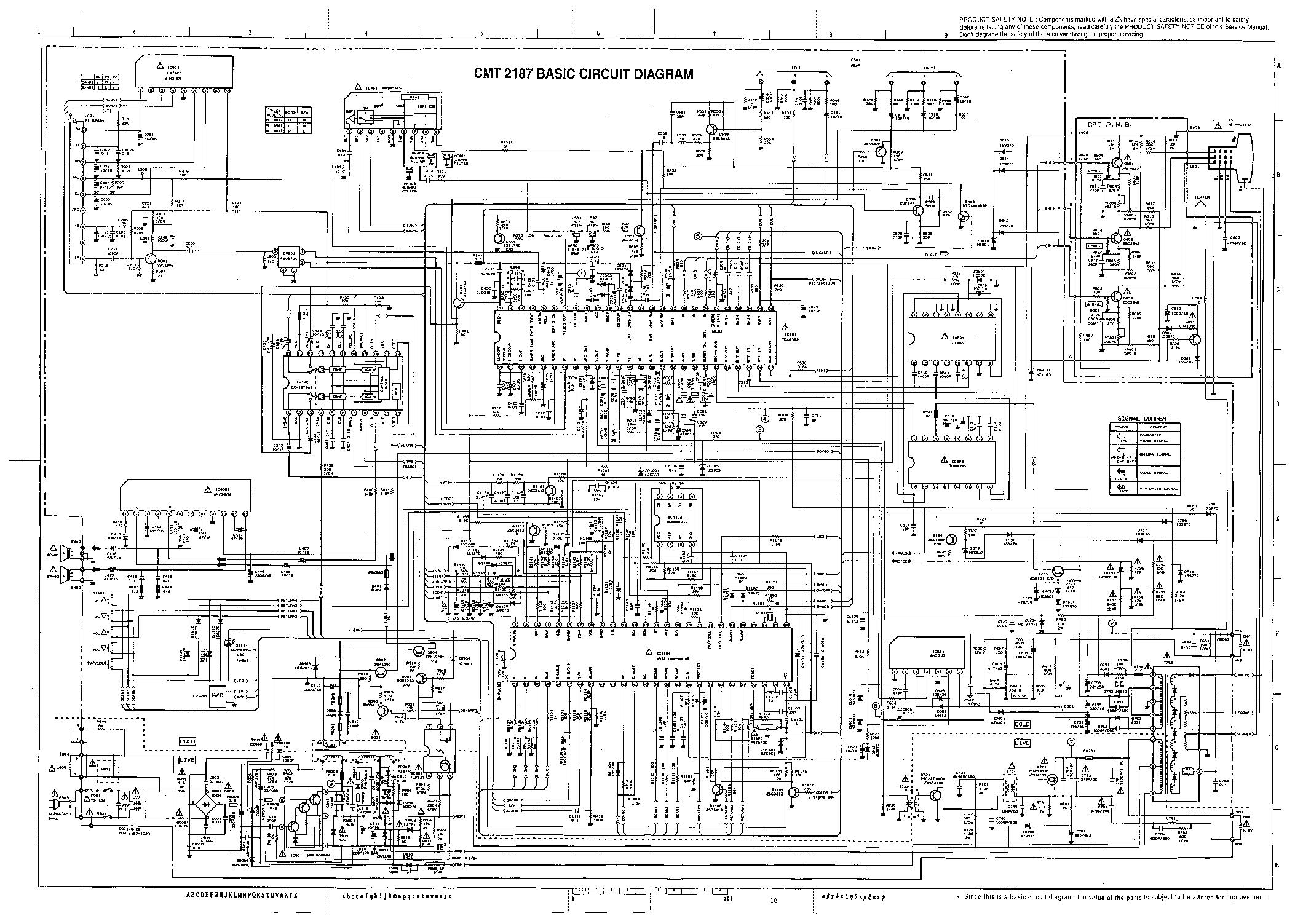 Circuit Diagram Hitachi Tv - Custom Wiring Diagram •
