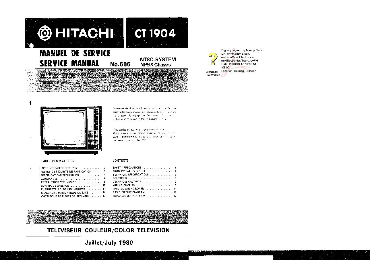 hitachi cmp307xe service manual online user manual u2022 rh pandadigital co Hitachi Service Manuals HA6 Hitachi Excavators