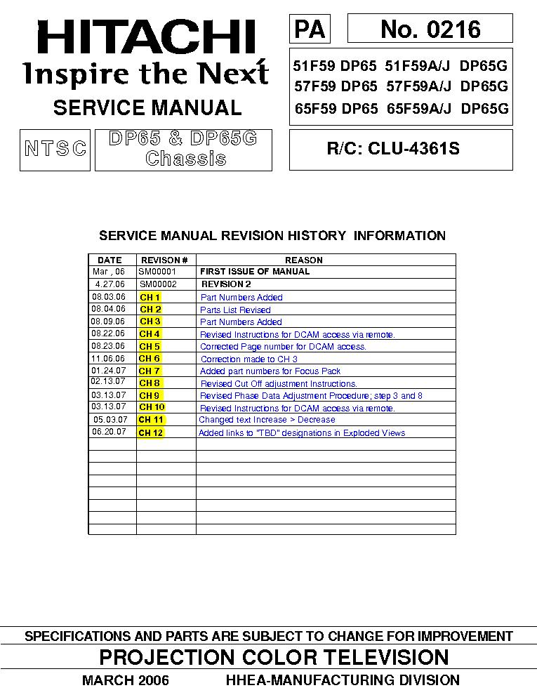 Pdf manual for hitachi tv 57f59a.