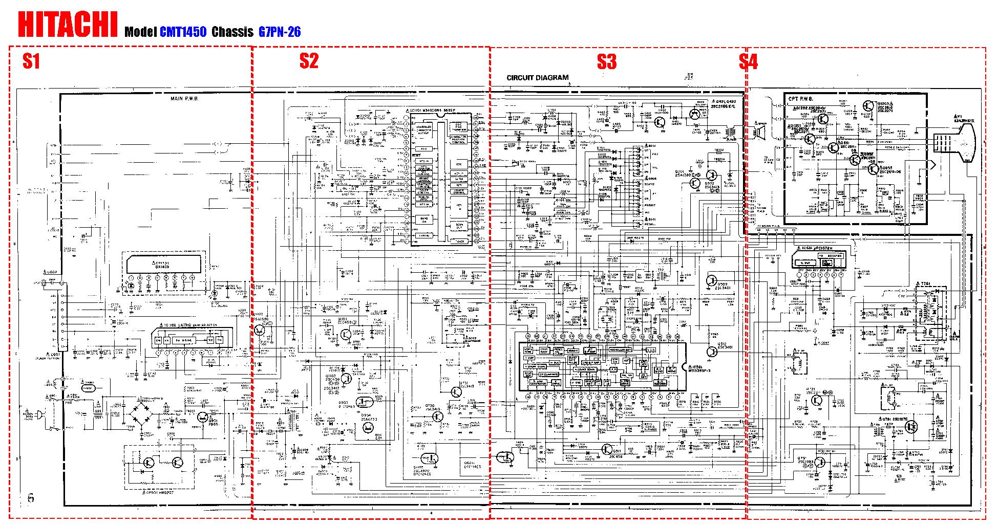 Схему телевизора хитачи