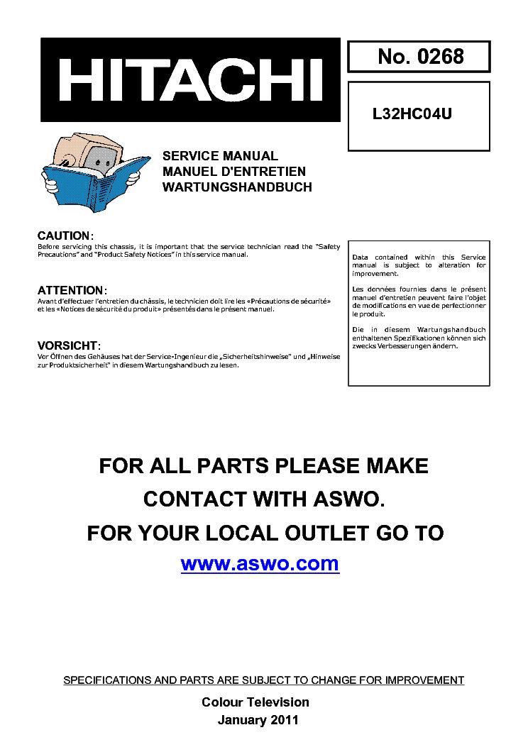 hitachi 50v500 60v500a chassis lc37 f service manual download rh elektrotanya com Owner's Manual Service ManualsOnline