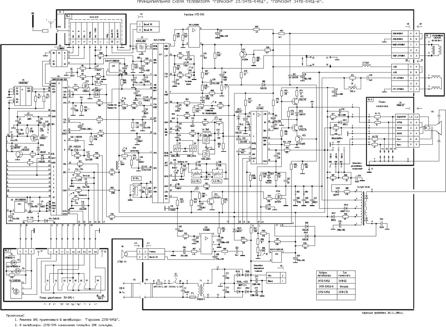 Схема телевизора горизонт 51ctv 65513