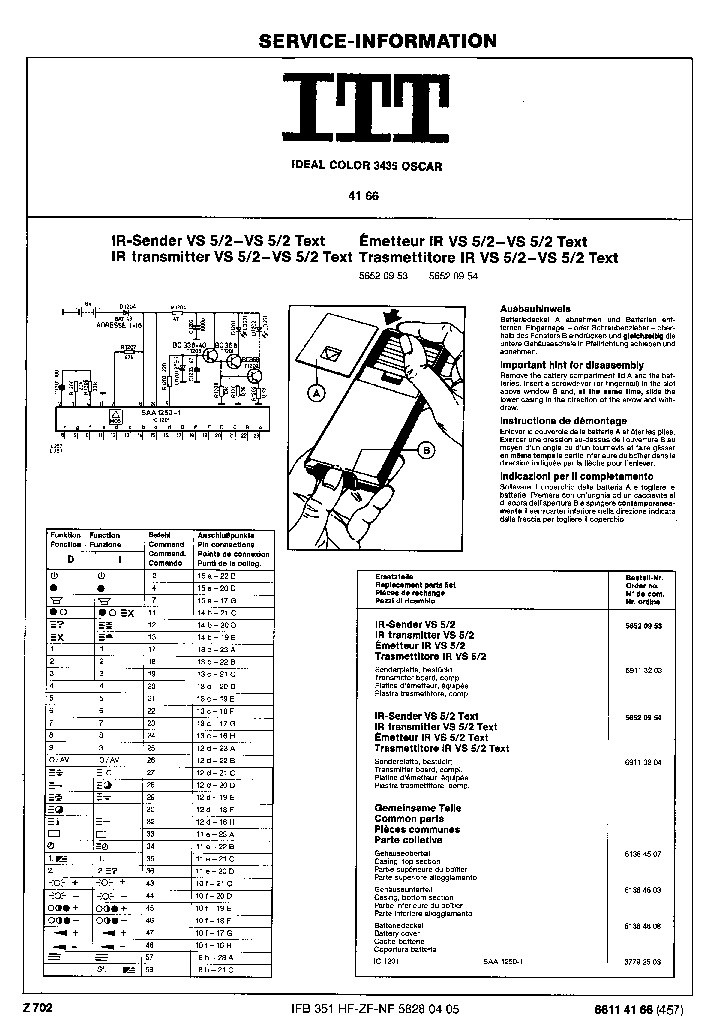 Itt Ideal Color 3106 Oscar Service Manual Download