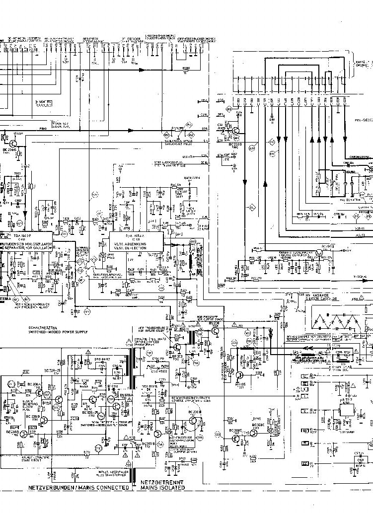 Service Manual Schematic Diagrams Itt Compact 80 Colour Television