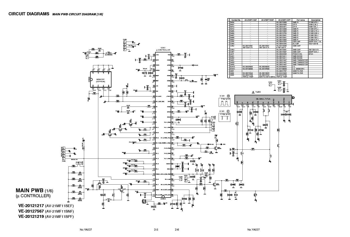 Jvc Tv Av28bt7e Service Manual Free Download  Schematics  Eeprom  Repair Info For Electronics