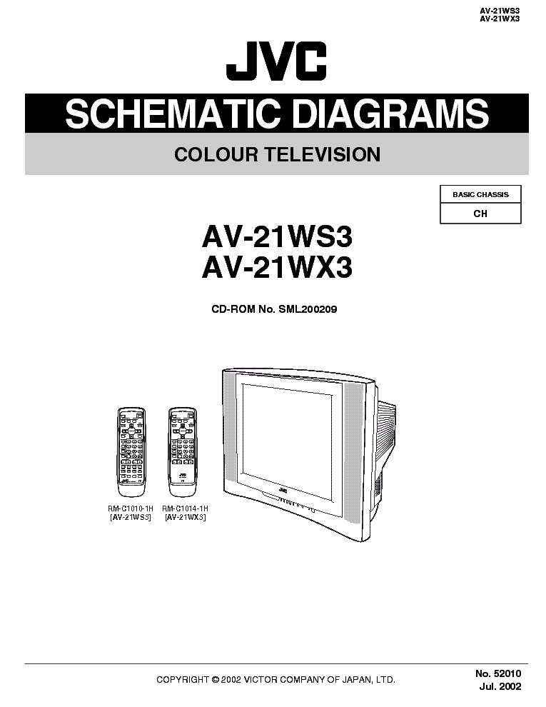 JVC AV-21WS3 21WX3 CH CH SCH service manual (1st page)