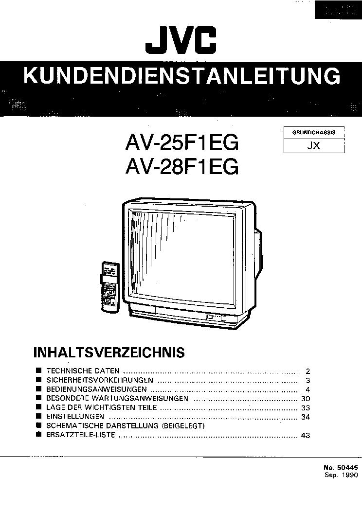 Схемы телевизоров jvc horizont