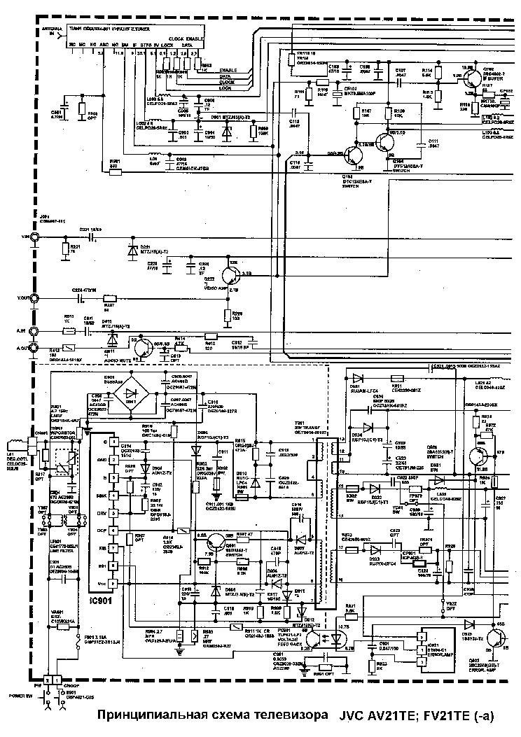 Электрические схемы телевизоров jvc