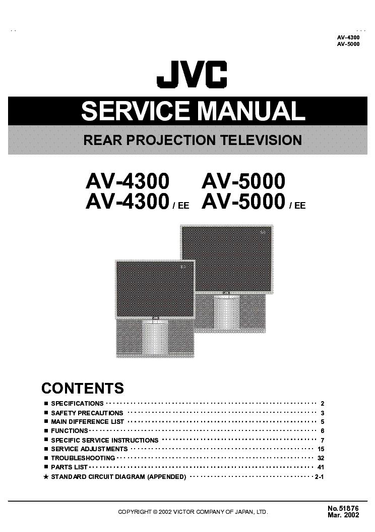 jvc av4300 projection tv sm service manual download. Black Bedroom Furniture Sets. Home Design Ideas