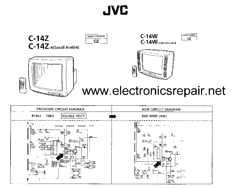 Схема телевизоров JVC C