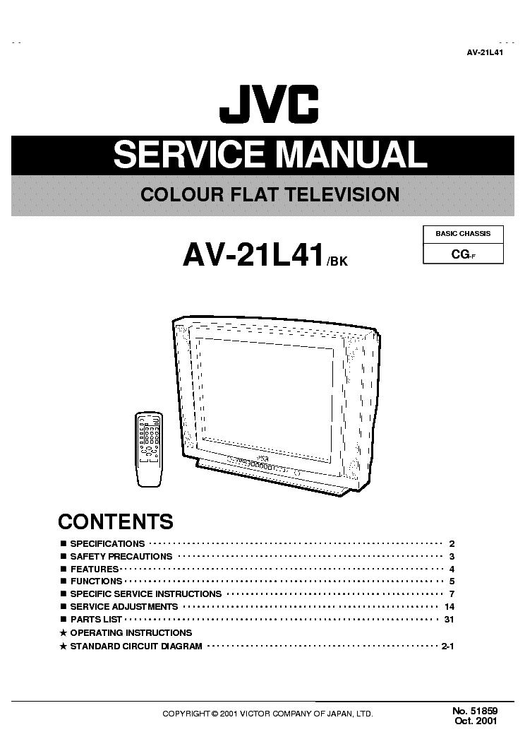Инструкция к телевизору jvc av 21te