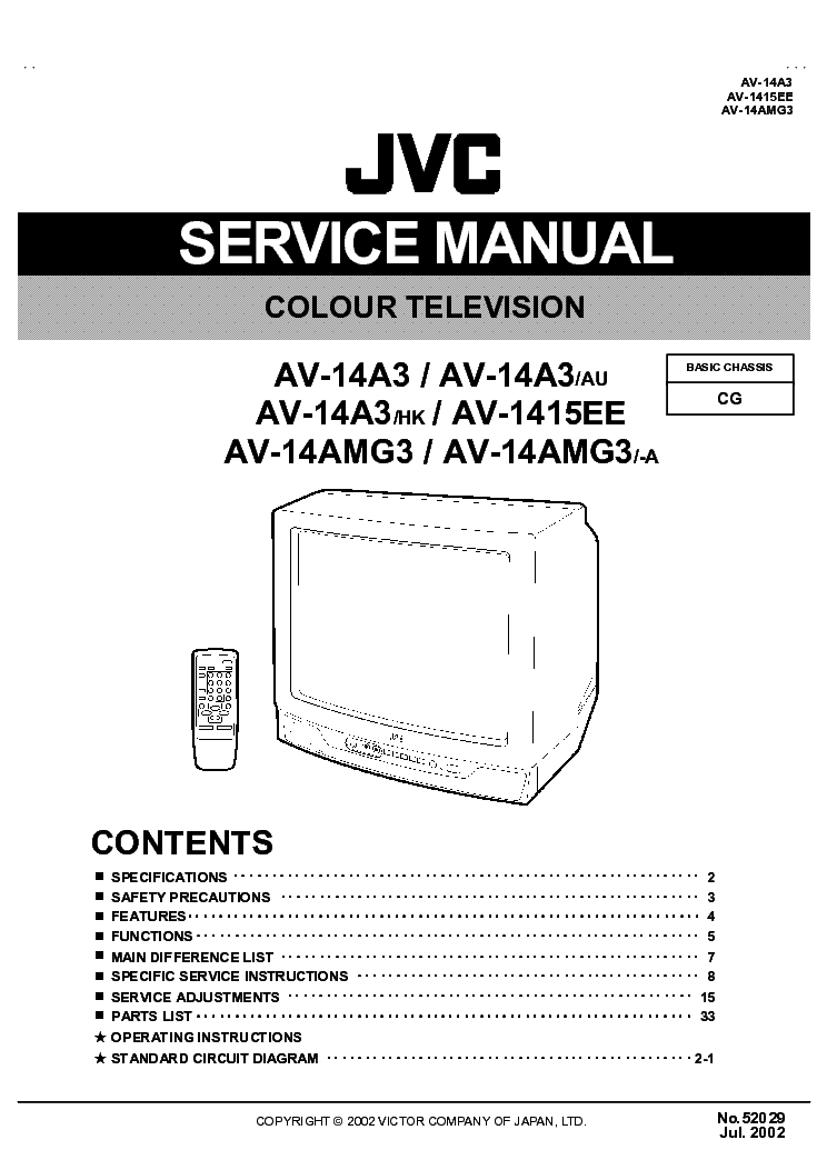 JVC CG CHASSIS AV-14A3 service manual (2nd page)