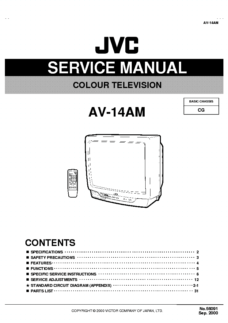 JVC CG CHASSIS AV-14AM service manual (2nd page)