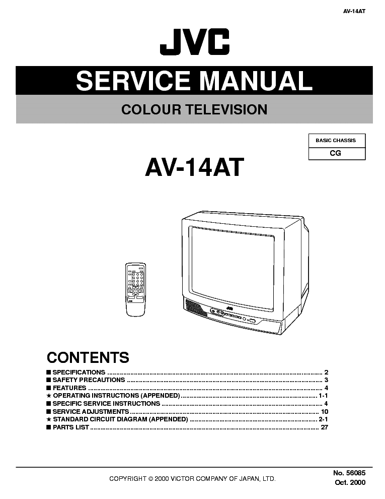 JVC CG CHASSIS AV-14AT service manual (2nd page)