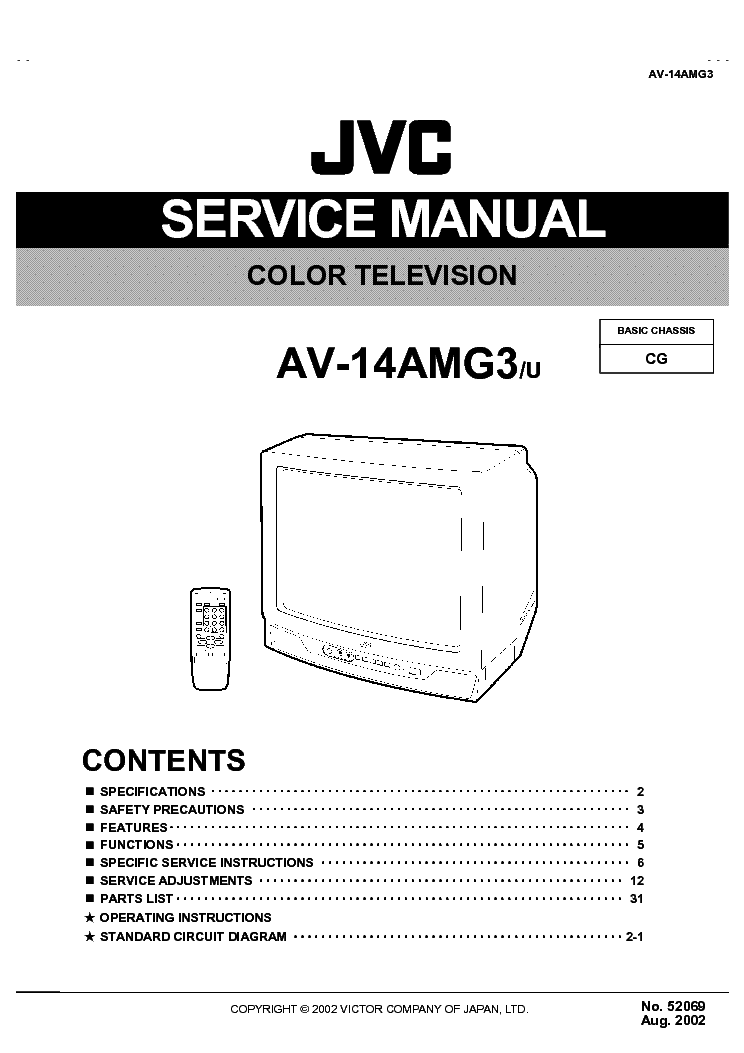 jvc chassis cg av 14amg3 service manual download schematics eeprom rh elektrotanya com I'art JVC TV Manual Manual TV JVC Rmc406