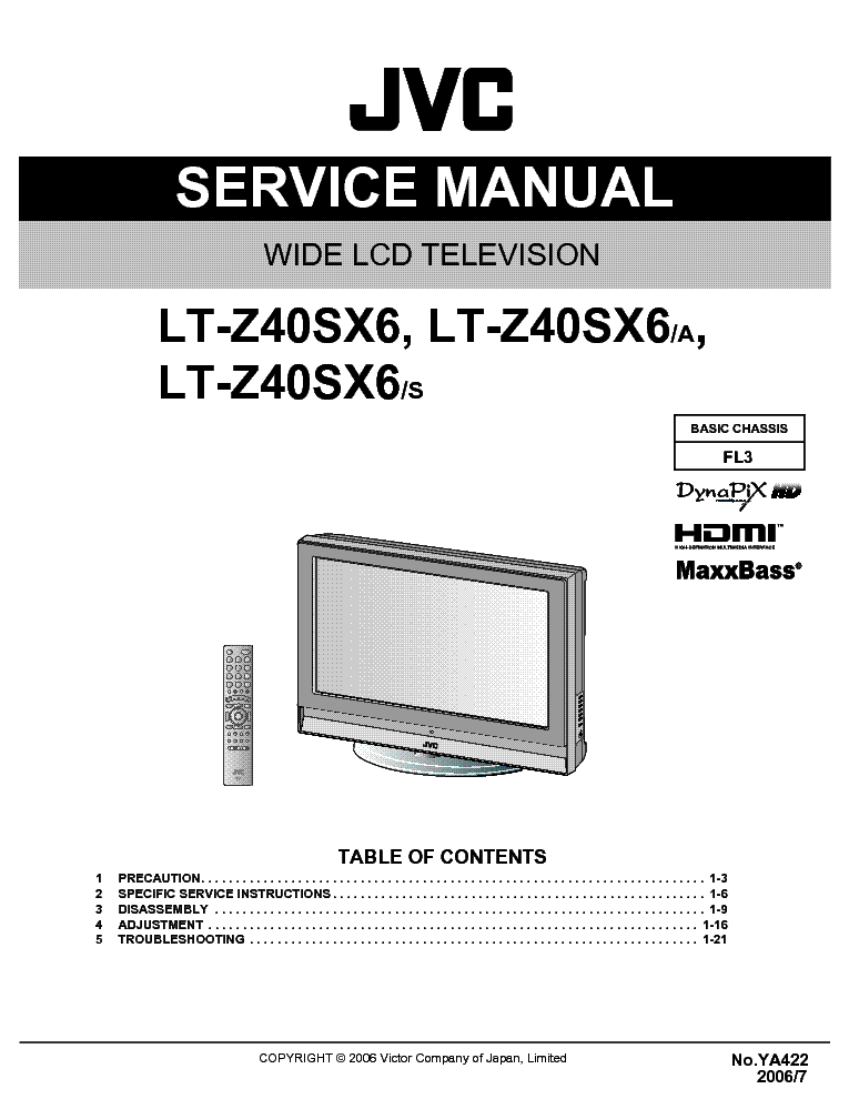 jvc fl3 chassis ltz40sx6 lcd tv service manual download. Black Bedroom Furniture Sets. Home Design Ideas
