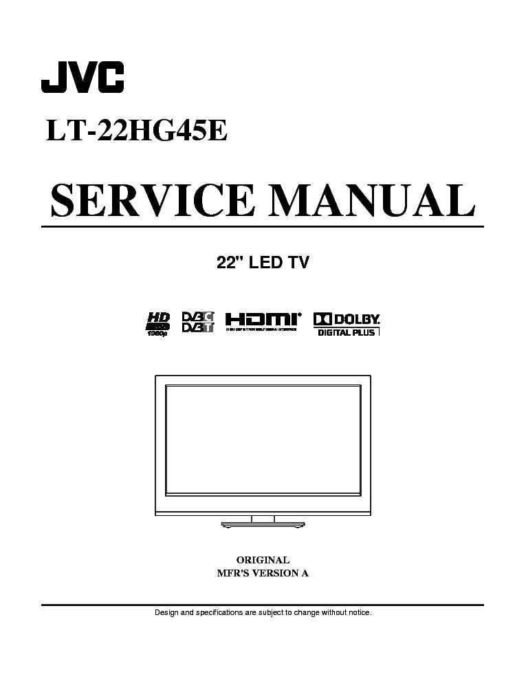 jvc lt 22hg45e led tv service manual download schematics. Black Bedroom Furniture Sets. Home Design Ideas