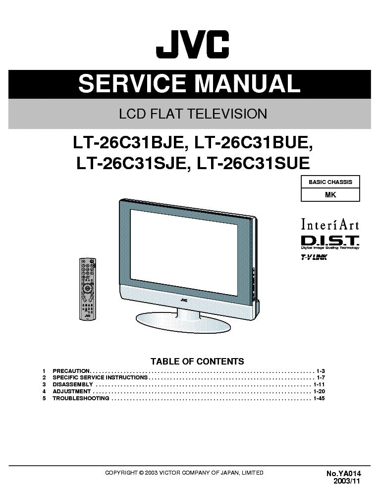 Сервисная инструкция JVC LT-26C31SJE - Manual-Shop.ru.