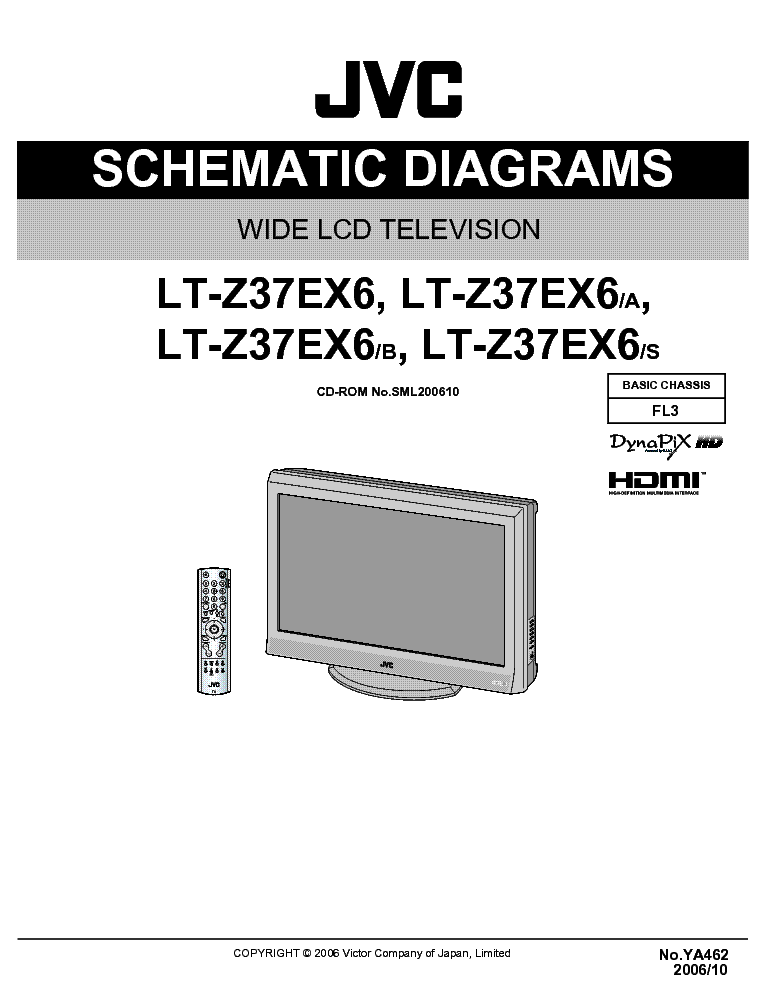 jvc lt-z37ex6 schematic-diagrams service manual (1st page)