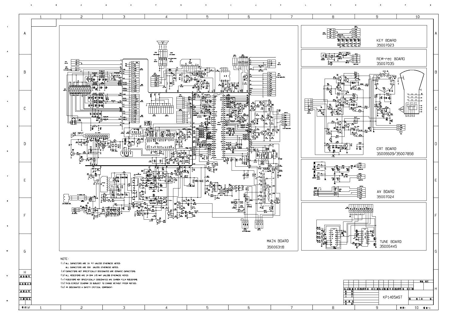 Телевизор авест 54тц-04 схема