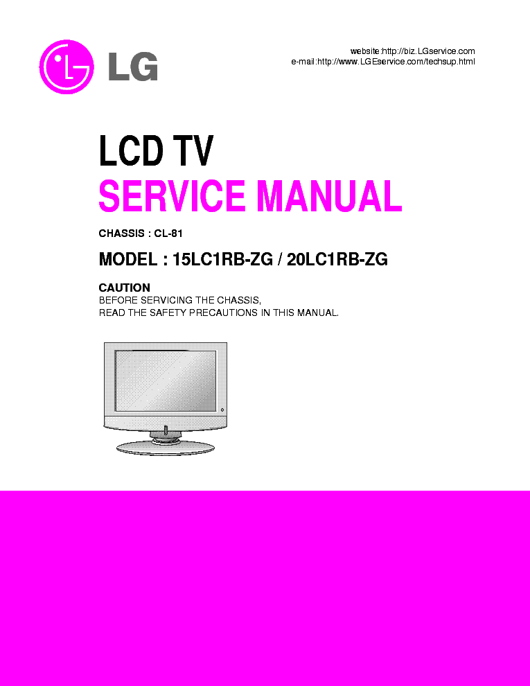 LG 15,20LC1RB-ZG CH CL-81 SM service manual