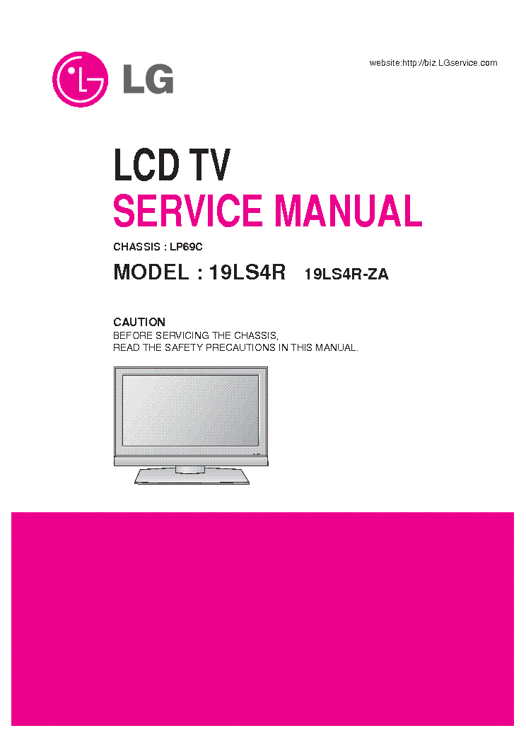 LG 19LS4R LP69C CHASSIS service manual (1st page)