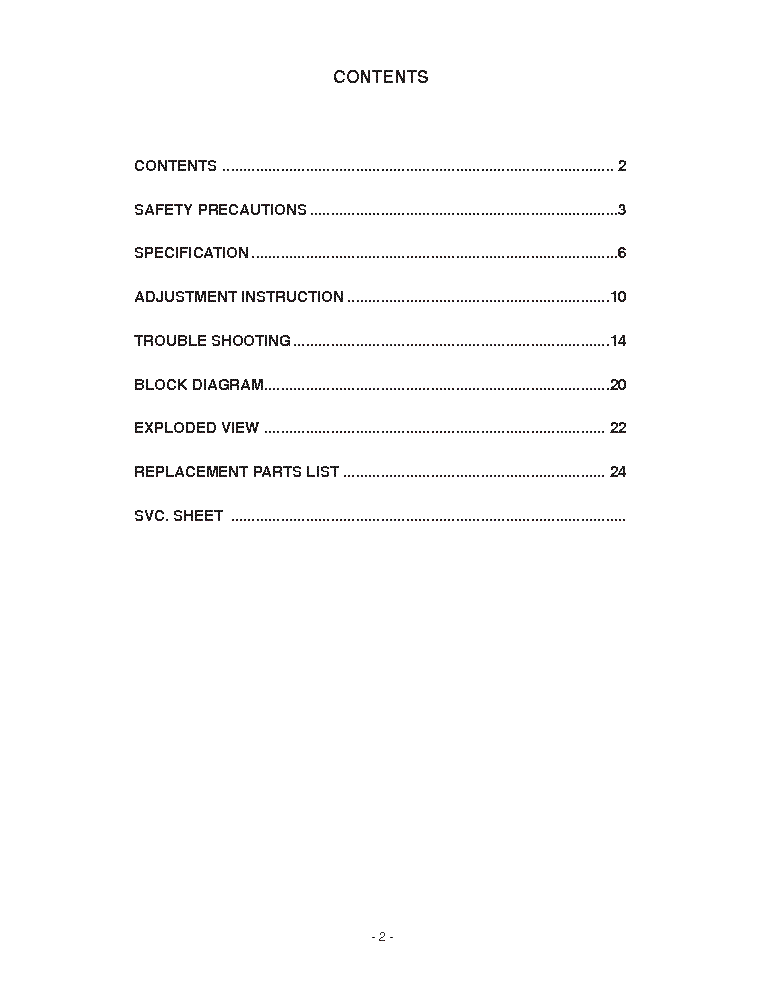 LG 19LS4R LP69C CHASSIS service manual (2nd page)
