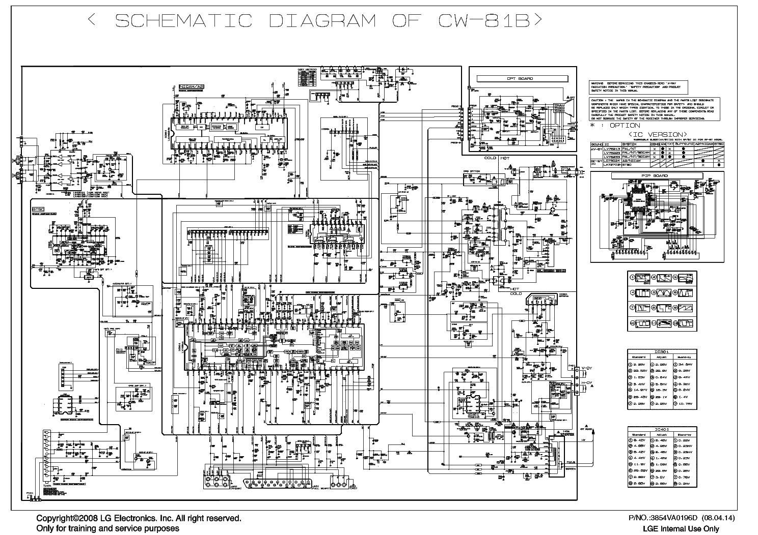 LG 21FU6TL-TLG-RLG-T4-Z4 CHASSIS CW81B SCH Service Manual download ...