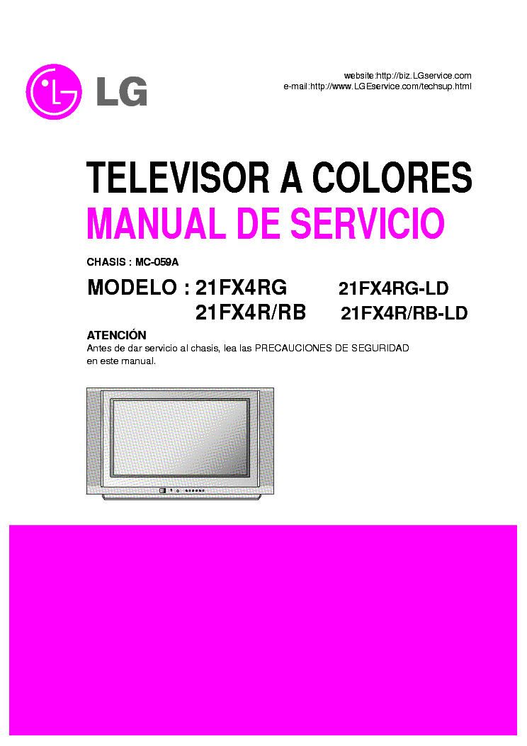 LG 21FX4R-RB-RG-LD CHASSIS MC-059A SM service manual (1st page)