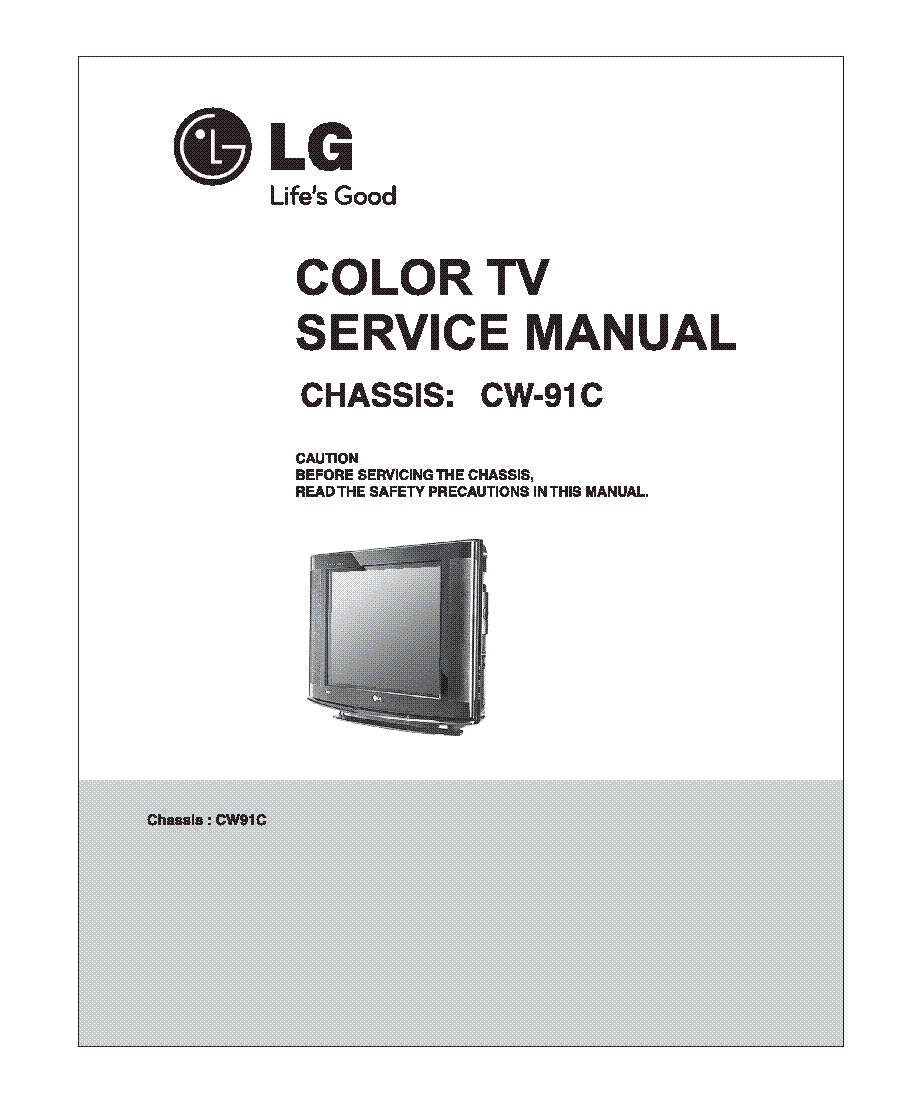 LG 21SB3RV-TP CHASSIS CW91C Service Manual download