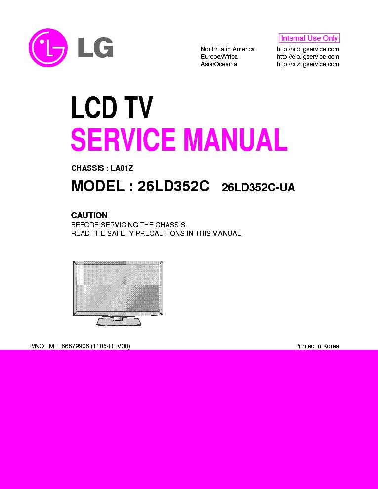 lg 26ld352c ua chassis la01z service manual download schematics rh elektrotanya com