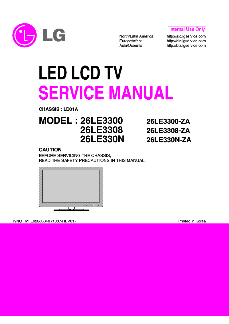 Lg 26lc2d Service Manual Download Schematics Eeprom Repair Info For Electronics Experts