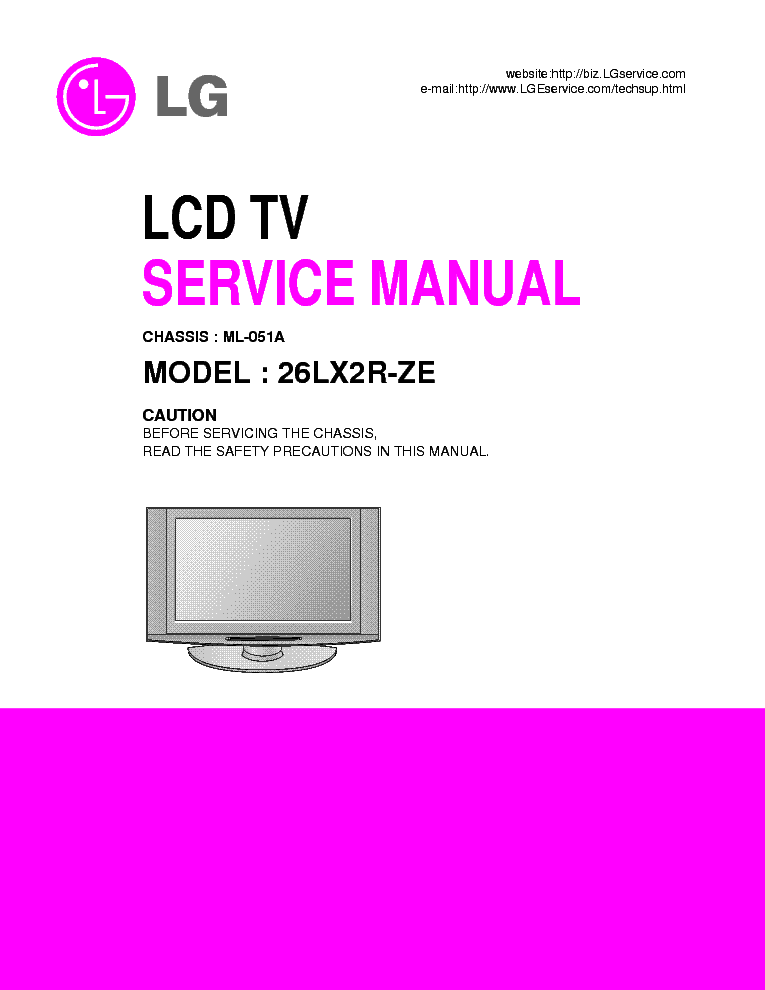 lg 26lx2r ze ch ml 051a service manual download schematics eeprom rh elektrotanya com lg lcd service manual lg lcd monitor service manual pdf