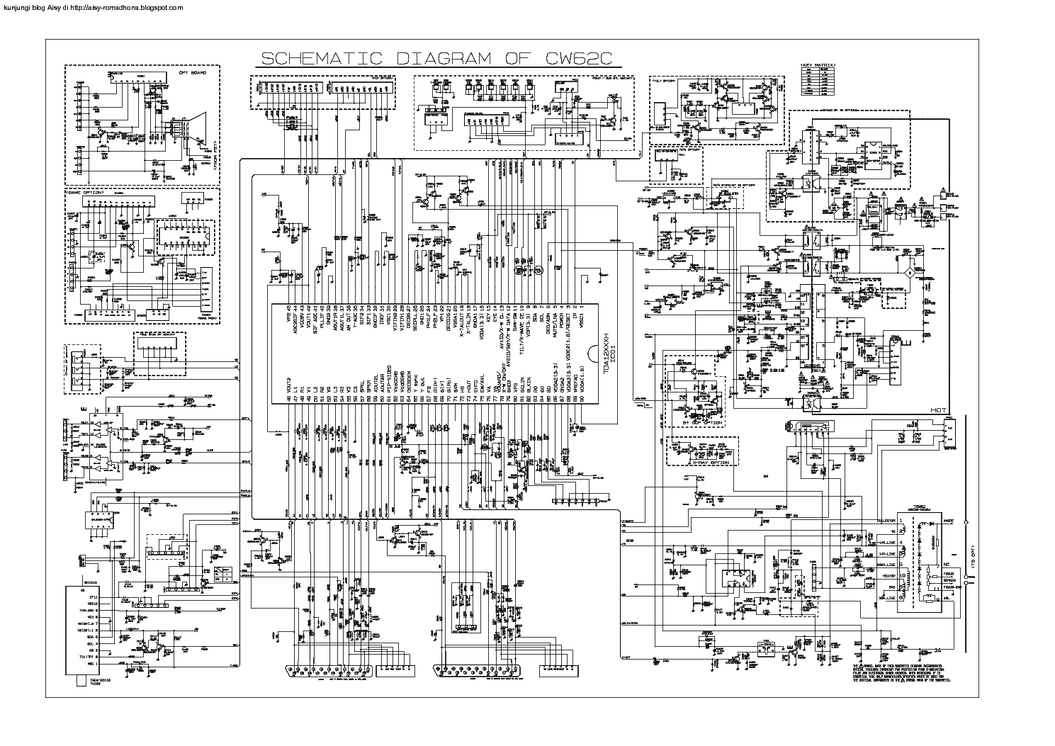 LG 29FS4RK-L1 CHASSIS CW62C SCH service manual (1st page)