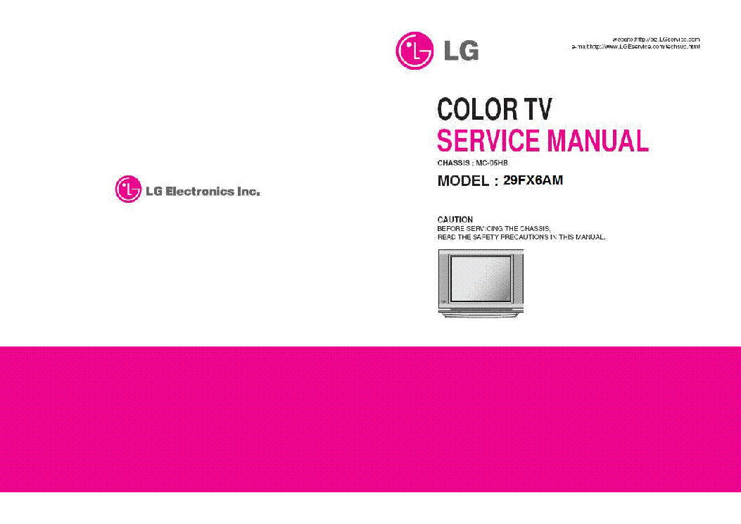 LG 29FX6AM CHASSIS MC05HB SM service manual