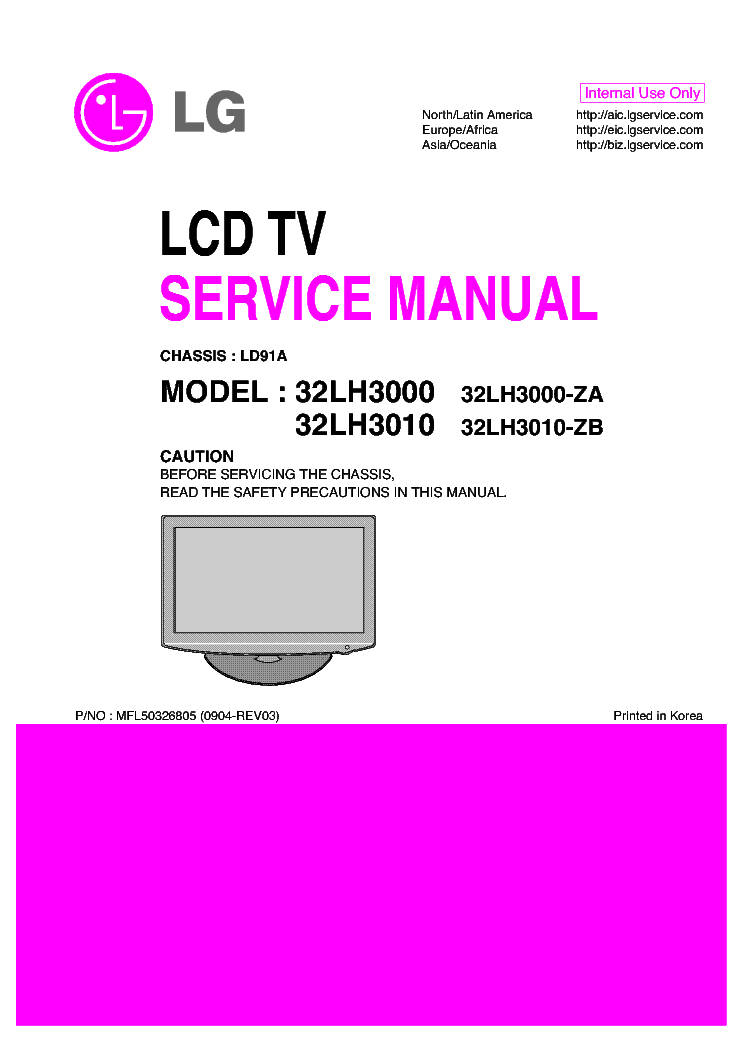Lg 32lh3000 3010 Chassis Ld91a Sm Service Manual Download Schematics Eeprom Repair Info For Electronics Experts